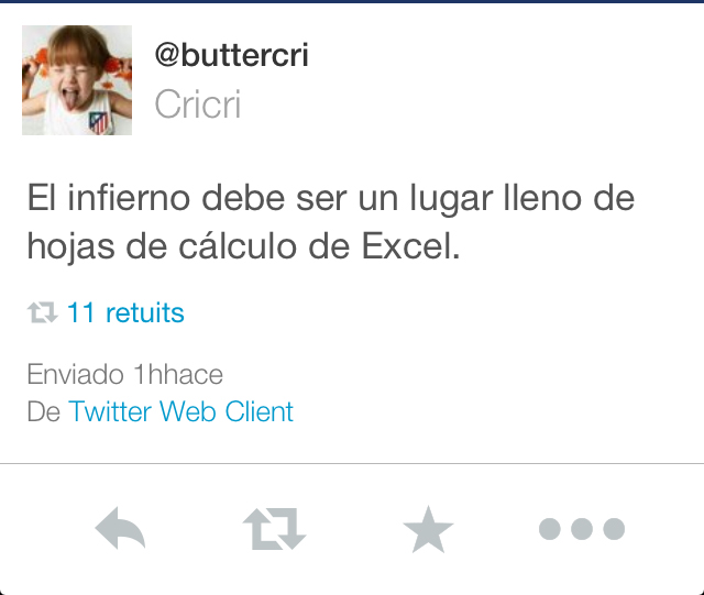 excel infierno